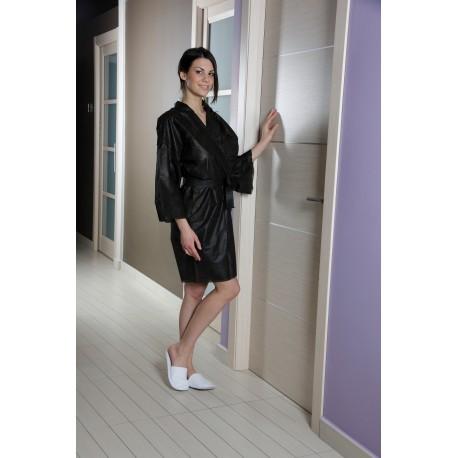 Kimono Noir jetable en non tissé