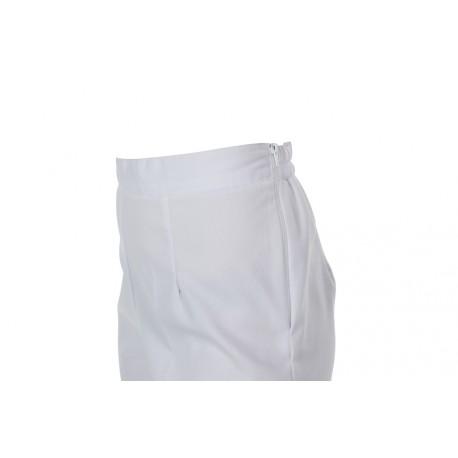 Pantalon piqué ceinture blanc