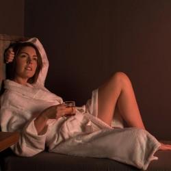 peignoir col châle 100% coton Homme et Femme